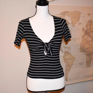 NEW LISTING! Urban Outfitters Striped Peephole Top